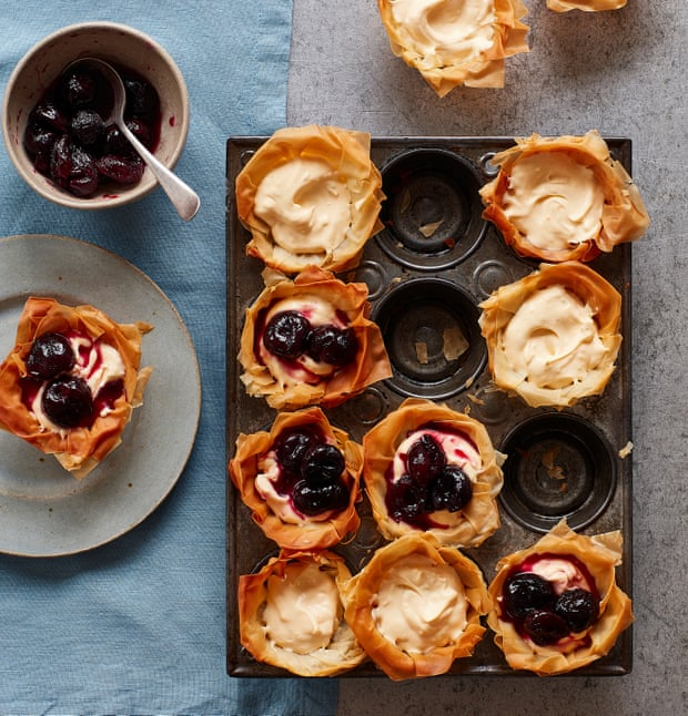 Thomasina Miers' recipe for cherry kirsch filo tartlets